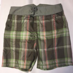 The North Face women's long plaid shorts